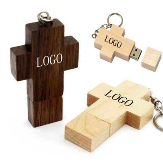 Wood Cross USB Flash Drive pictures & photos