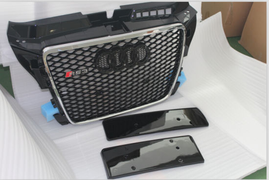 China A3 Upgrade to RS3 ABS Black Grille, Black Frame