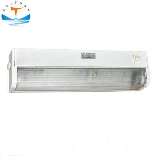 8W 15W 40W Steel Marine Nautical Fluorescent LED Bedside Light Lamp