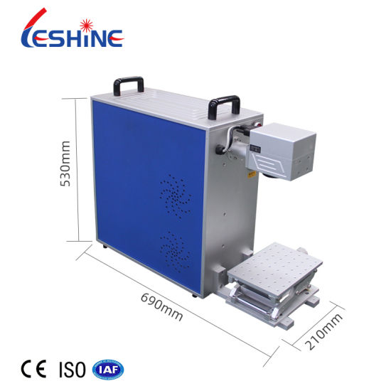 Portable 20W Fiber Laser Marking Machine for Marking Stainless Steel and Metal Materials
