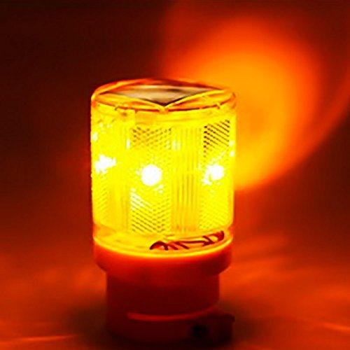 Waterproof Industrial 6PCS LED Solar Flash Strobe Light for Tower Crane Yard