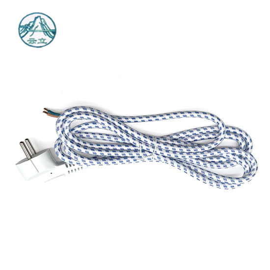 Hot Sales VDE Rubber Braided 2X1.0mm2 Power Extension Cord with Stripped Open Wire