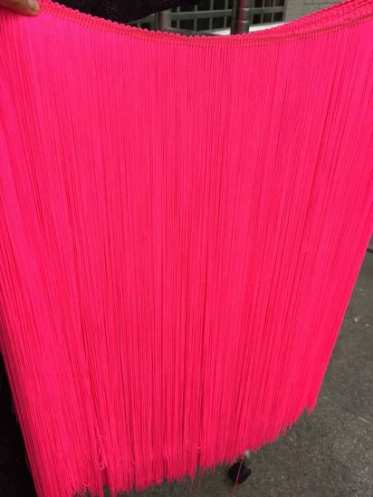 High Quality 100cm Silk Lace Tassel Fringe Trim for Dress pictures & photos