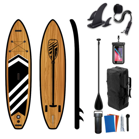 Wood Design Inflatable Paddle Board Isup Paddling Board