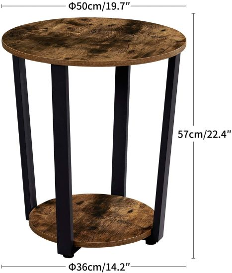 Small Sofa Couch Table, Small Round End Table With Drawer