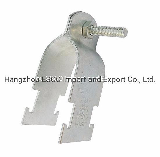 IEC 61386 Standard Light Type Steel Pipe Strut Clamp for EMT / IMC / Rigid Conduit