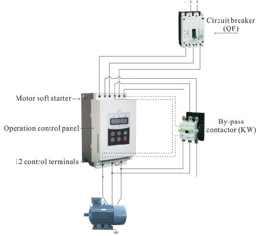 China 40hp 30kw Three Phase Bypass Soft Stater With Bypass Contactor China Power Inverter Vfd