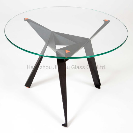 6-12mm Clear Tinted Colored Round Rectangle Shape Table Top Tempered Glass