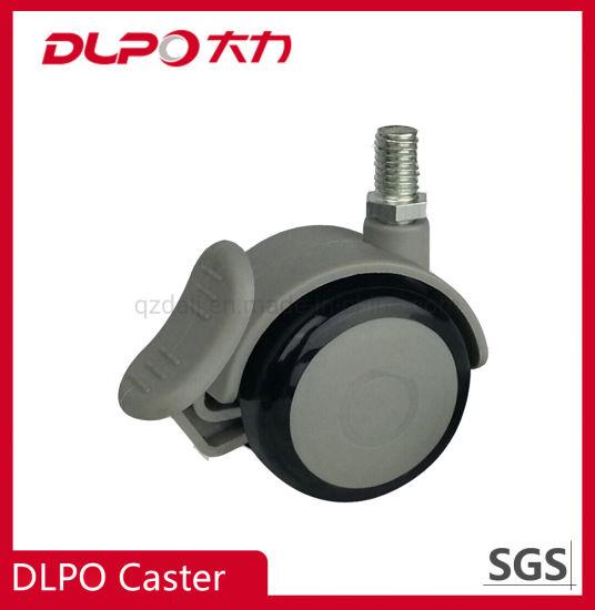 Dlpo Threaded Stem Lockable Wheel Castor for Medical Cabinet