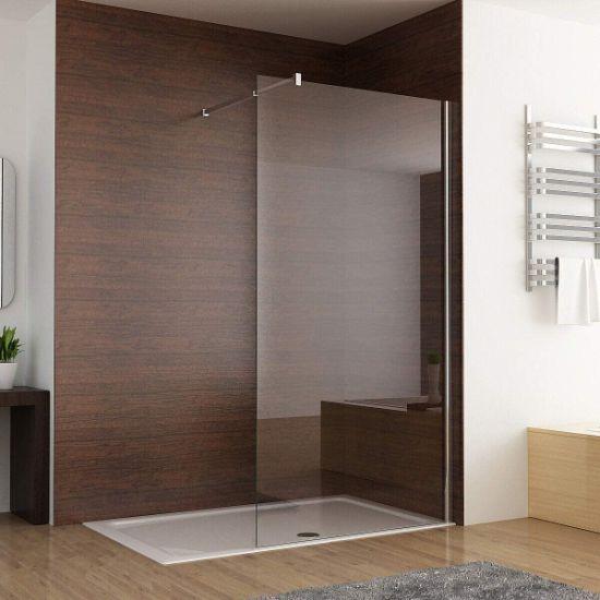 Black Walk in Bathroom Door