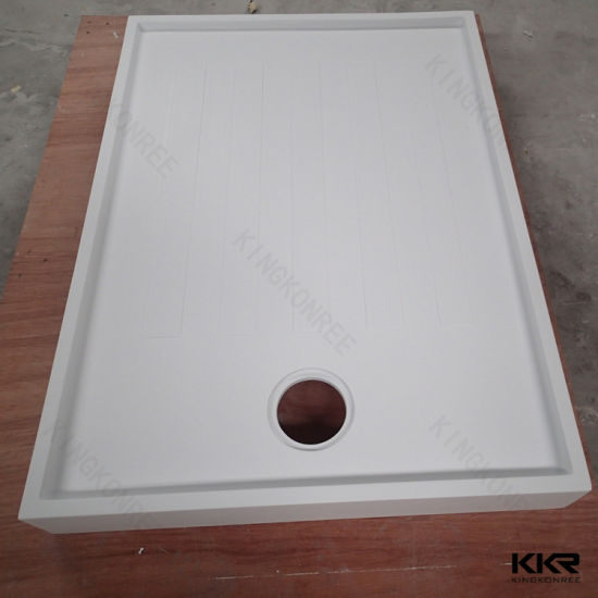 100/120*80mm Customized Size Artificial Stone Shower Tray -Europen Style