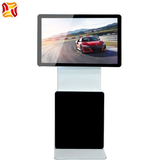 55 Inch Floor Standing LCD Touch Screen Advertising Display Machine with Rotary Screen LCD Player