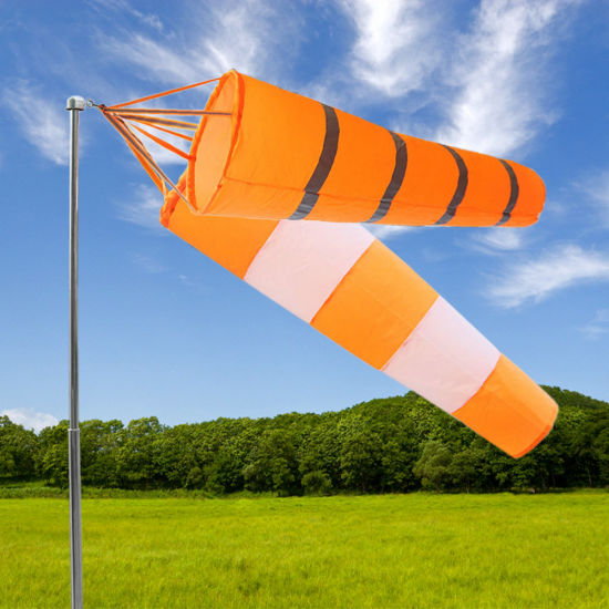 1.5m High Quality Outdoor Orange and White Polyester Windsocks