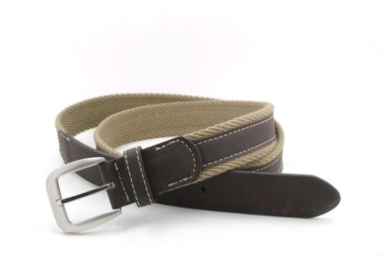 Classic Cotton Webbing Braided PU Fashion Belt Cky0198