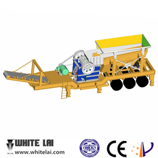 High Capacity and Low Price Trailer Stone Mobile Crusher pictures & photos