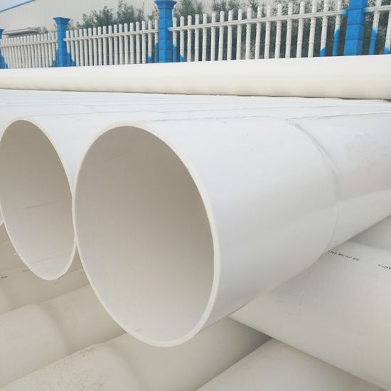 PVC Pipe 8 Inch 3 in. X 10 FT., Solid Plain-End Pipe, White Thin Wall Drain Pipe