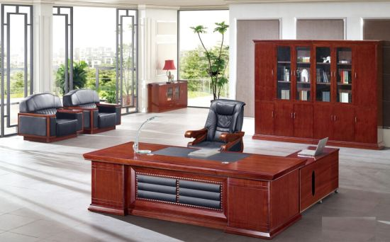 Wholesale Movable Wheels Manager Office Table Furniture for Sale (FOH-A4B281)