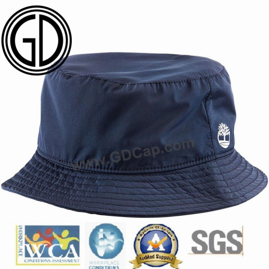 7726318bd2bb1 Hot Sale Top Neck Summer Black Cotton Polyester Bucket Hat pictures   photos