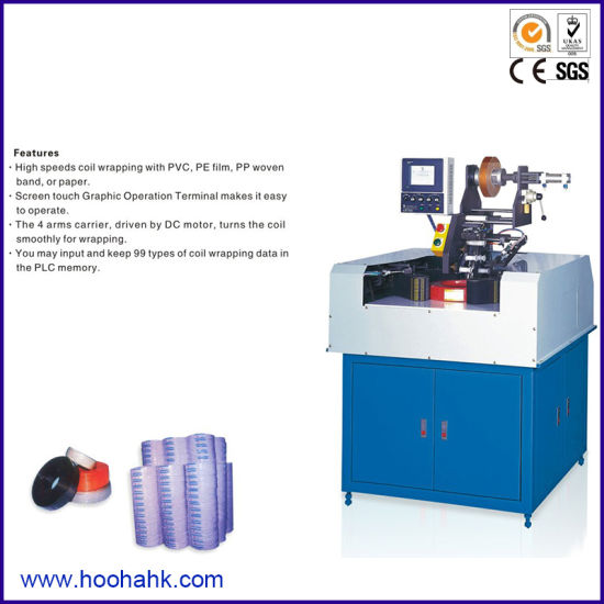 PLC Wire and Cable Coiling Wrapping Packing Machine
