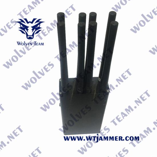 Handheld Jammers 8 Antenna 8W Handheld 3G 4G GPS Uhe VHF Mobile Phone Signal Jammer
