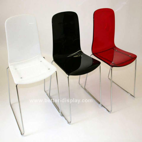 Custom Acrylic Dining Chair with Metal Leg (BTR-Q3002)
