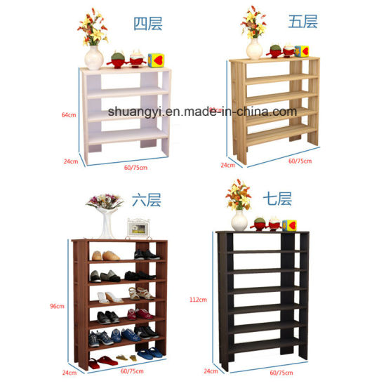 4/5/6/7 Layers Room Corner Wall Mounted Wooden Shoes Rack pictures & photos