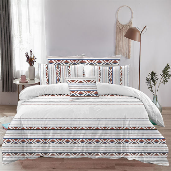 Best Seller Top Five Luxury 100%Cotton Hotel Household Bedding Set of Jaqquard Fabric
