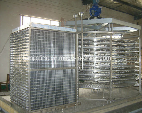 Quick Freezing High Efficiency Spiral Freezer Machine for China pictures & photos