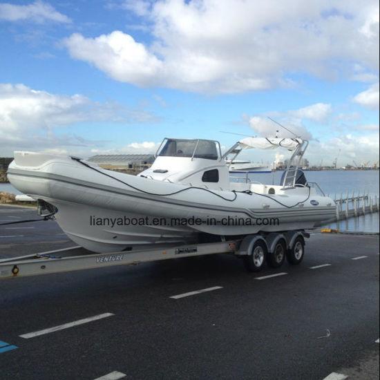 Liya 8.3m Rigid Inflatable Boat Manufacturer Hypalon Rib Boat for Sale