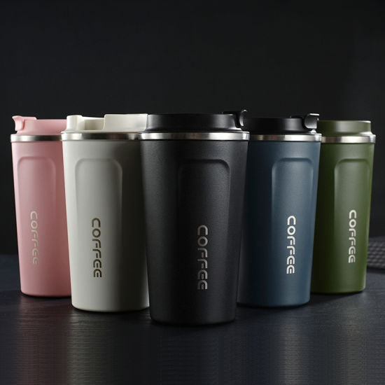 2020 New Wholesale Custom Reusable Travel Stainless Steel 18/8 Tea Thermos Mug Coffee Mug with Plastic Lid
