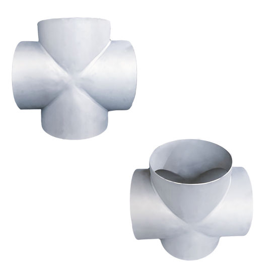 ISO9001 Standard Ss Straight Cross High Pressure Pipe Fitting