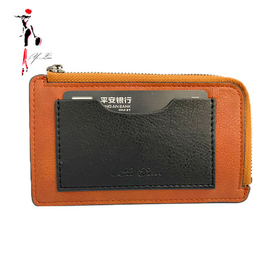 Promotion Gift Top Quality PU Leather Slim RFID Blocking Credit Card Holders