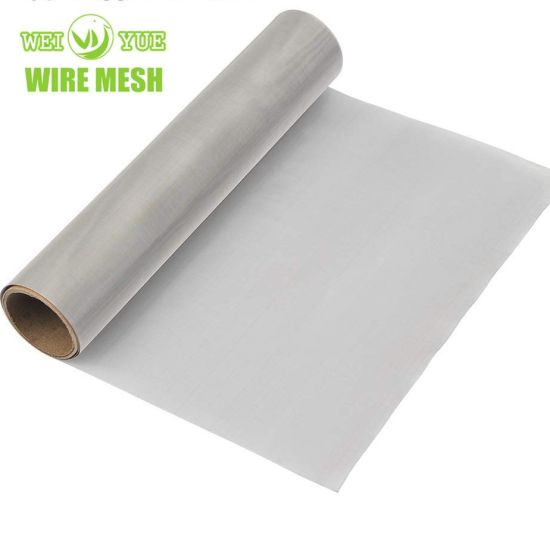 Moderate Price 304 316 Stainless Steel Filter Square Metal Wire Netting Mesh 100/200/300microns Plain Twill Woven Screen Mesh for Screening and Filtering