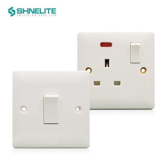 British Standard Bakelite 1 Gang 1 Way Electric Switch OEM