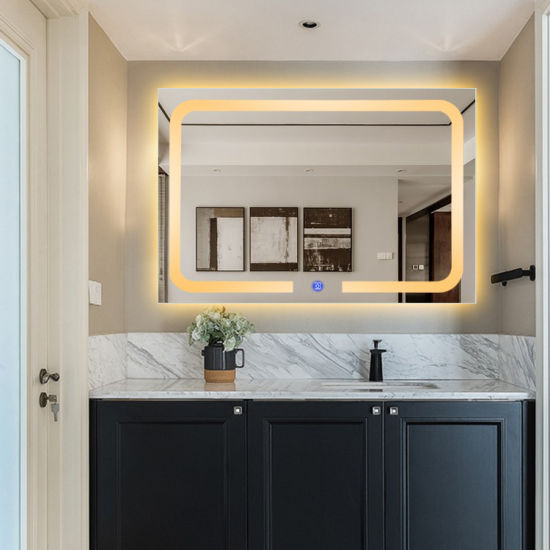 Led Touch Screen Bathroom Wall Mount, How To Attach A Mirror Bathroom Wall