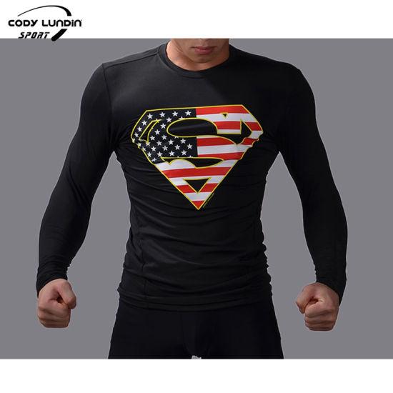 High Quality MMA Gym T-Shirt 3D Printing Long Sleeve Rashguard