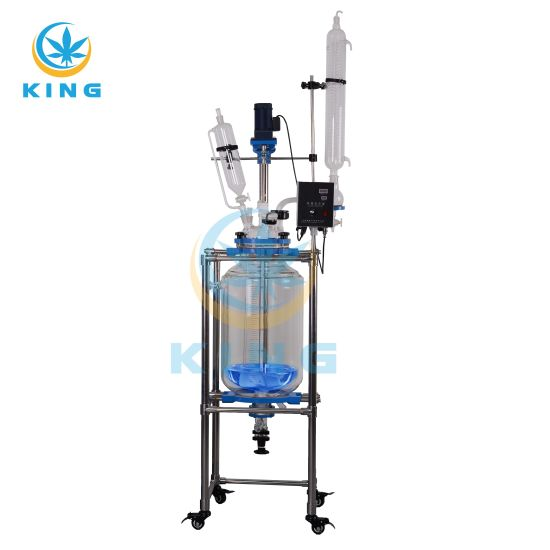 50L Factory Price Pyrex Single Layer Chemical Glass Reactor for Laboratory