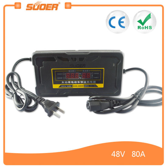 Suoer 48 Volt 8 9a Fast Smart Car Battery Charger For Electric Vehicle Son 4880d