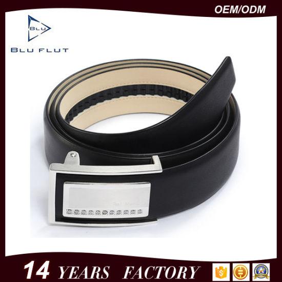 Men's Genuine Leather Ratchet Dress Cow Leather Waist Belt