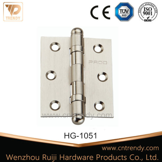 Ball Bearing Solid Brass Hinge Plain Hinge with Ball Tip (HG-1051) pictures & photos