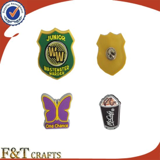 Promotion Colorful PVC Lapel Pin Custom School Badge Party Pin