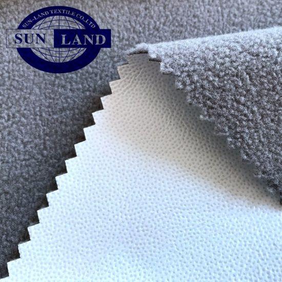 Waterproof and Anti-Static 50d Polyester Interlock Bonded Poly Polar Fleece Knit Fabric