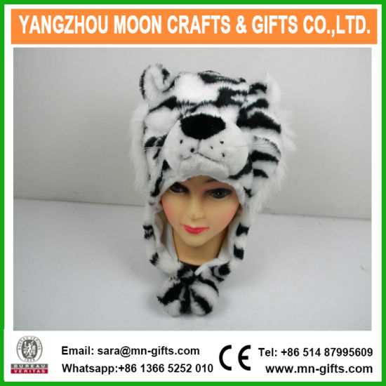 Plush Tiger Animal Fur Hat with Earflap pictures & photos