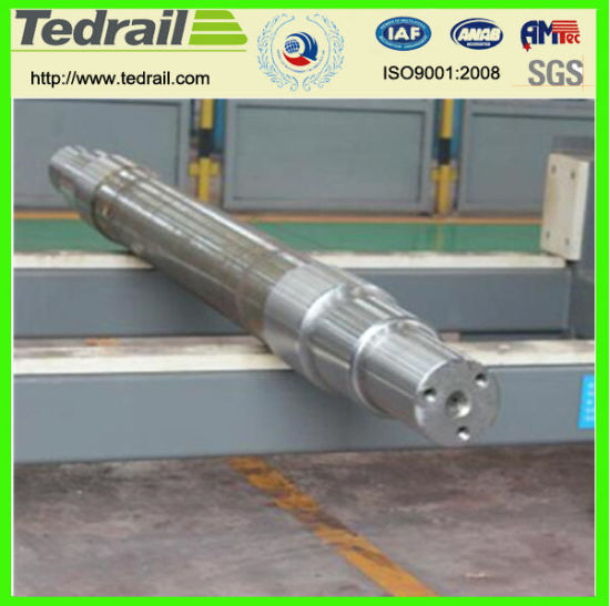 Axle for Railway Bogie, Train Axle, Railway Freight Car Parts