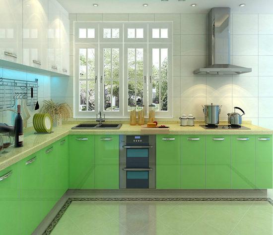 Wholesale Bright Color Fiber Plywood Kitchen Cabinet