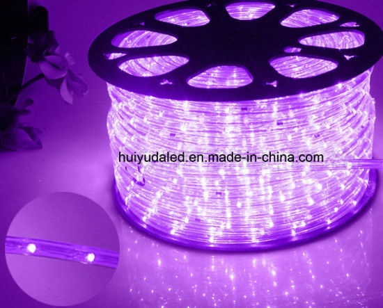 Led Rope Light Outdoor Strip Neon Christmas Holiday Hotel Bar Round Two Wires Purple Color 25leds 1 6w M