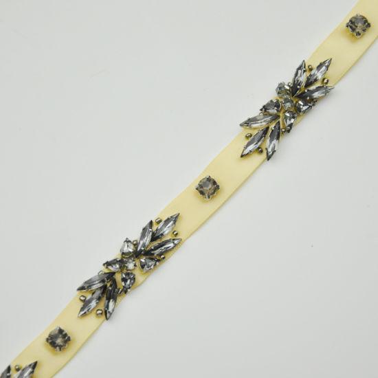 Beaded Rhinestone on Ribbon Tape for Garments