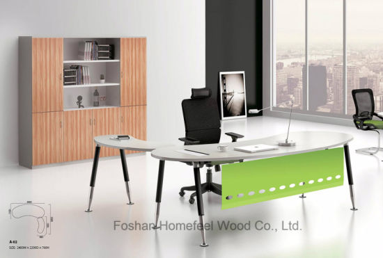 Modern Business Office Simple Design Curved Manager Desk (HF BSA02)