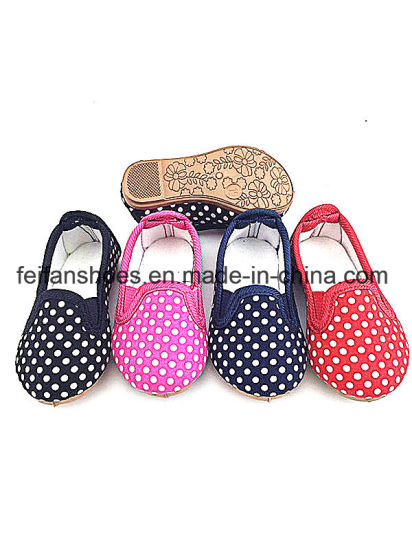 Baby Girl Baby Injection Canvas Shoes Causal Footwear Shoes (FFBB1228-01) pictures & photos