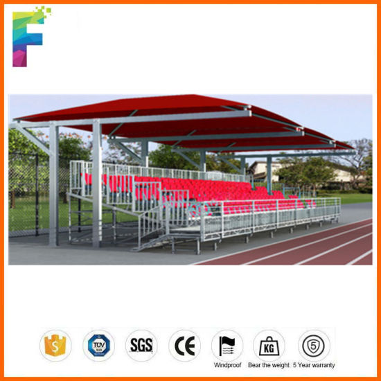 4 Rows Aluminum Bleachers with Plastic Seats